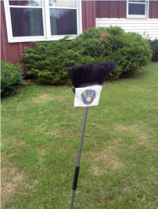 Brewers sweep the Cubs July 2011. My front yard courtesy of good friend and fellow Little League coach Tony Dietz